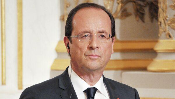Президент Франции Франсуа Олланд . Архивное фото