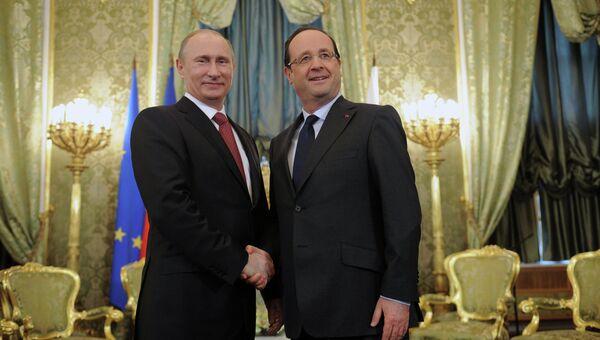 Встреча В. Путина и Ф.Олланда в Кремле