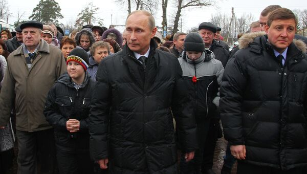 Рабочая поездка В. Путина в Псков