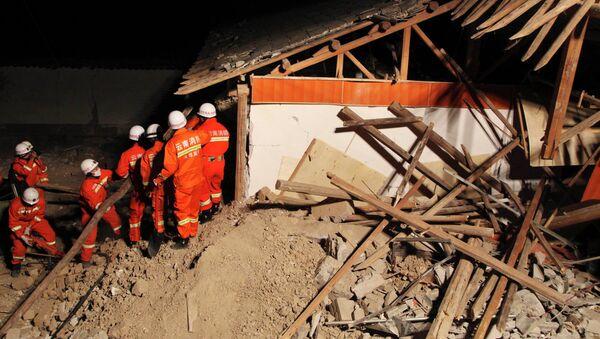 Последствия землетрясения в уезде Эрюань провинции Юньнань, Китай