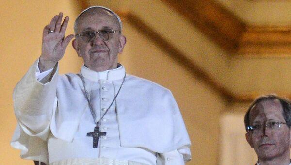 Новоизбранный папа римский Франциск