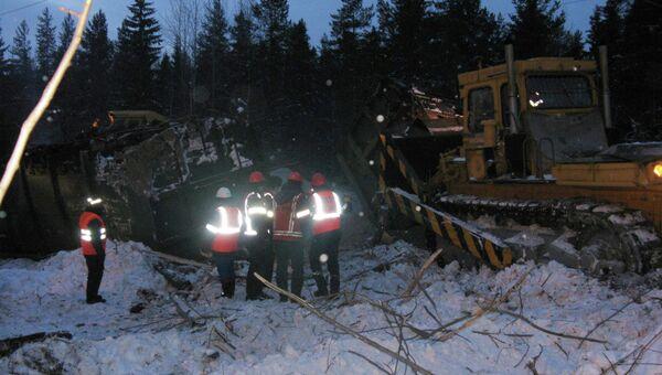 Авария на железной дороге в Карелии