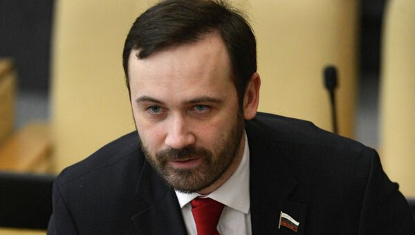 Член комитета Госдумы РФ по экономической политике, инновационному развитию и предпринимательству Илья Пономарев н