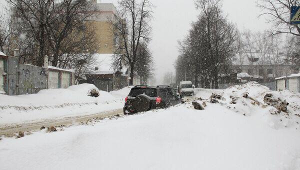 Снегопад в Костроме