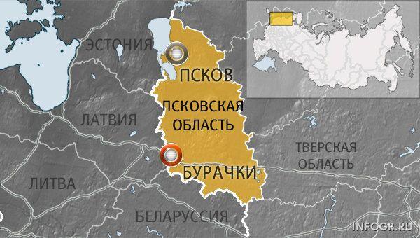 Пункт пропуска Бурачки в Себежском районе Псковской области