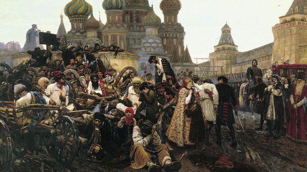 Картина Утро стрелецкой казни художника Василия Ивановича Сурикова, 1881