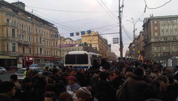 Акция на Триумфальной площади 31 марта 2013 года
