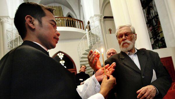 Празднование католической Пасхи во Владивостоке