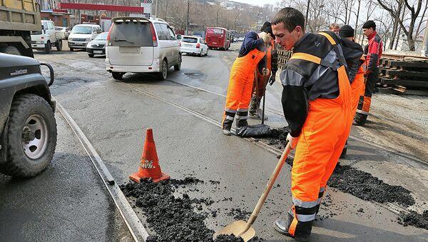 Ямочный ремонт дорог во Владивостоке