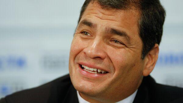 Президент Эквадора Рафаэль Корреа. Архив