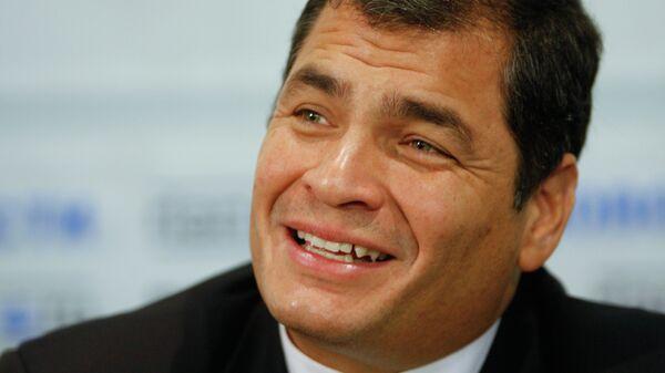 Президент Эквадора Рафаэль Корреа. Архивное фото