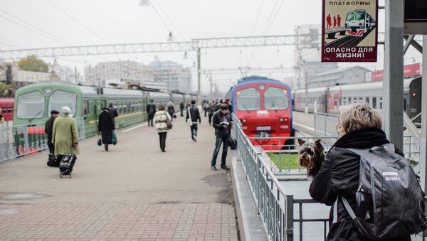 Павелецкий вокзал в Москве. Архивное фото