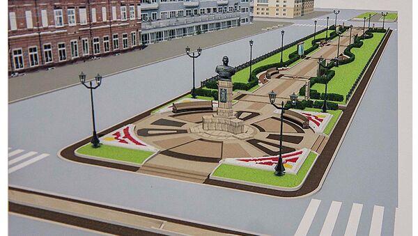 Макет реконструкции аллеи на Красном проспекте Новосибирска