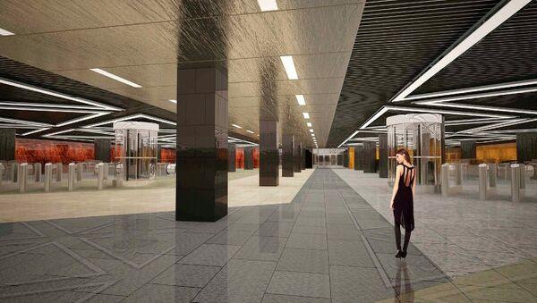 Вариант оформления новых станций метрополитена на Кожуховской ветке