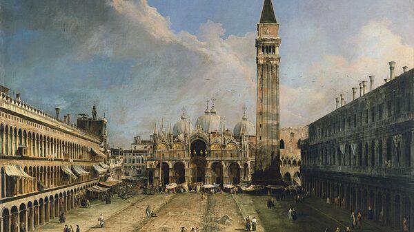 Картина Мол, Венеция, вид с площади Сан-Марко кисти Каналетто