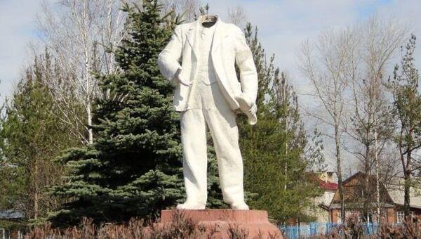 Хулиганы в Костроме оторвали голову памятнику Ленину