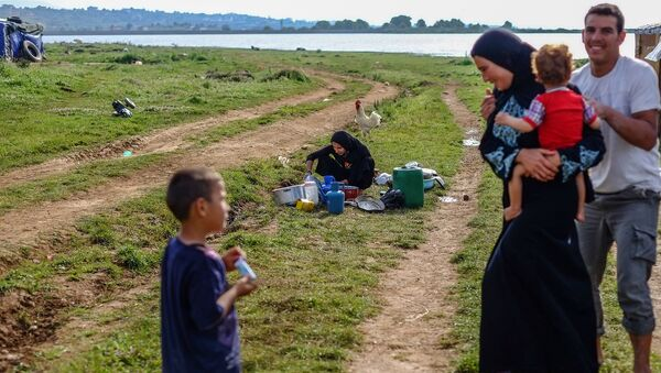 Сирийские беженцы в Ливане. Архивное фото