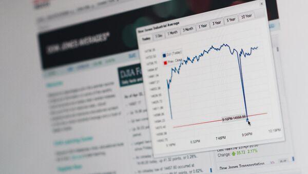 График индекса Dow Jones на сайте S&P Dow Jones Indices. Архивное фото