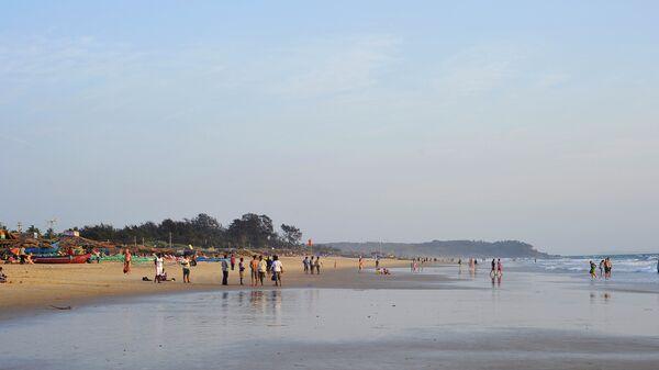 Пляж Калангут на севере штата ГОА, Индия