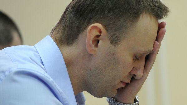 Оппозиционер, блогер Алексей Навальный в Ленинском районном суде