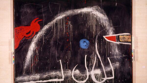 Работа каталонского художника Хуана Миро. Без названия, 1974 год