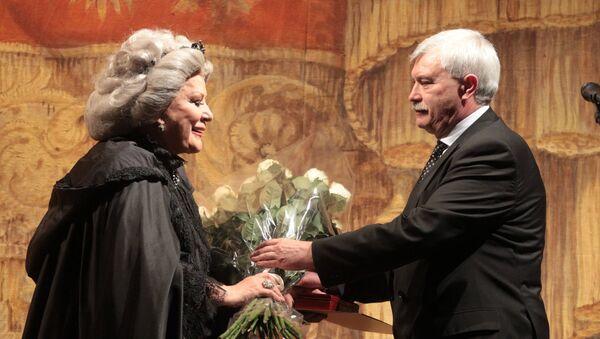 Церемония награждения Елены Образцовой почетным знаком За заслуги перед Санкт-Петербургом