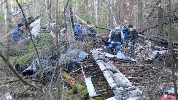 Найденные обломки пропавшего самолета Ан-2, архивное фото