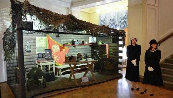 Выставка амуниции СССР и Германии в Новосибирске