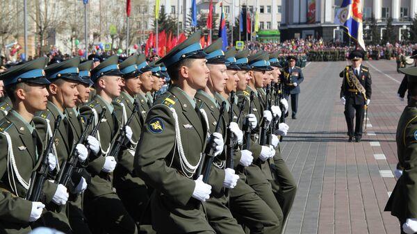 Военный парад в Улан-Удэ