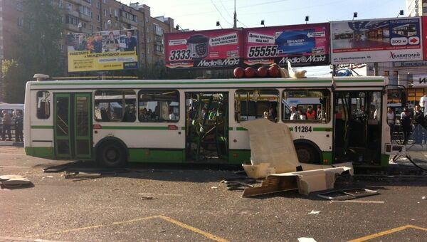 Газовый баллон взорвался в автобусе в Москве