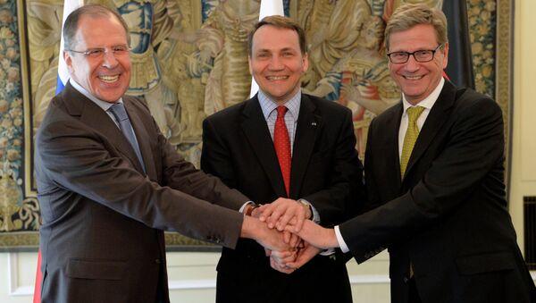 Неформальная встреча глав МИД России, Германии и Польши