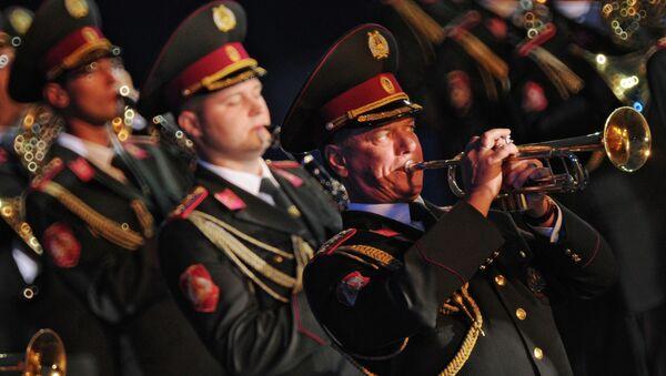 Военный оркестр, архивное фото