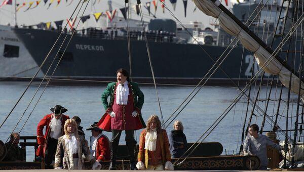 Репетиция военно-морского парада в Кронштадте