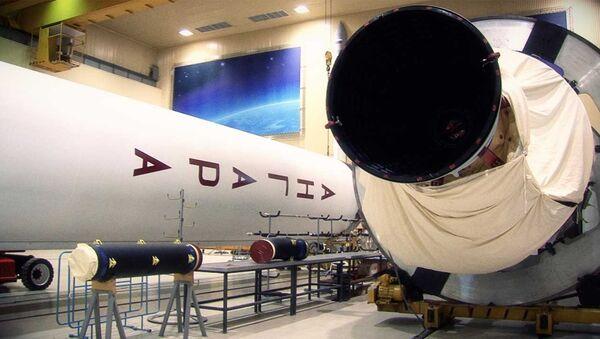 Ракету Ангара перед отправкой в Плесецк показали в Центре им. Хруничева
