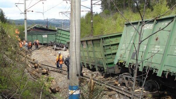 Сход вагонов грузового поезда на перегоне Златоуст – Уржумка Южно-Уральской ж/д