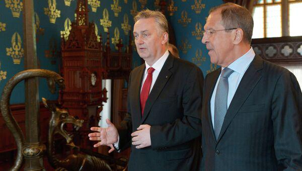 Министр иностранных дел РФ Сергей Лавров и глава МИД Боснии и Герцеговины Златко Лагумджия