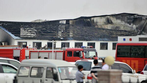Пожар на птицеферме в китайской провинции Цзилинь