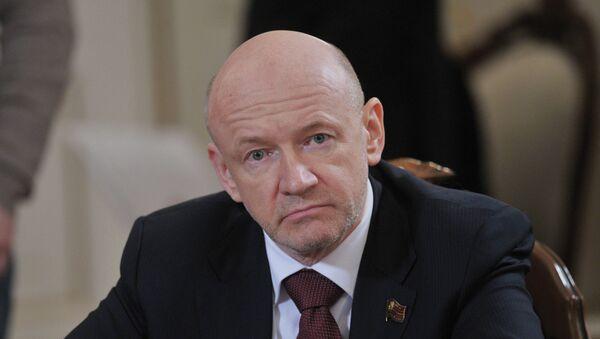 Спикер Московской городской Думы Владимир Платонов. Архивное фото