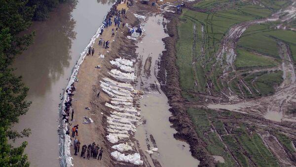 Ликвидация последствий наводнения в Венгрии