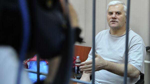 Арестованный мэр Махачкалы Саид Амиров в здании Басманного суда