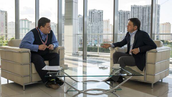 Интервью с врио губернатора Московской области Андреем Воробьевым