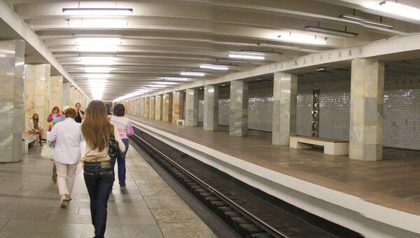 Станция метро Полежаевская в Москве