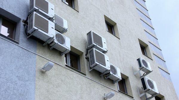 Кондиционеры на зданиях Томска