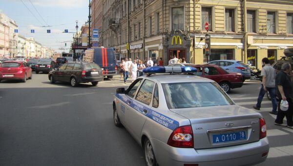 На месте взрыва в Санкт-Петербурге