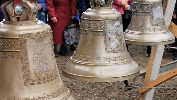 Митрополит Ростислав освятил колокола для нового храма под Томском