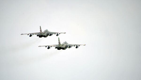 Самолеты Су-25 . Архивное фото