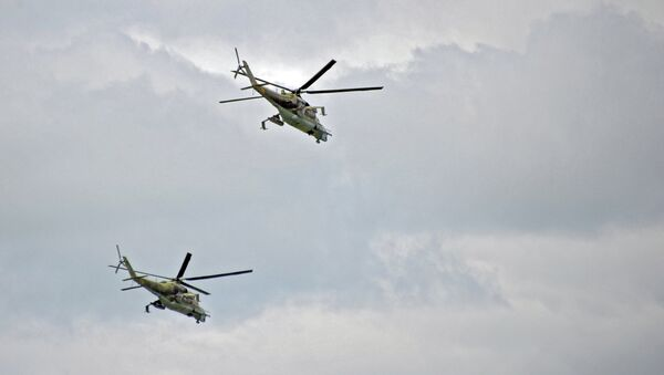 Вертолеты Ми-24, архивное фото