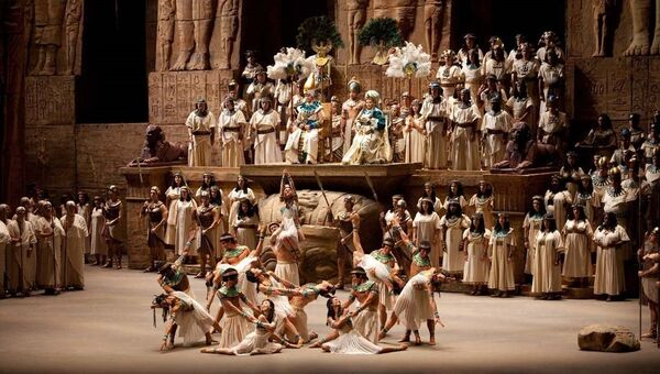 Сцена из оперы. Архивное фото