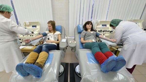 Доноры сдают кровь