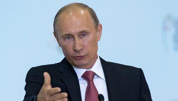 В.Путин встретился с призерами XXVII универсиады в Казани
